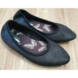 Skechers Womens Cleo Metallic Black Flats 8.5